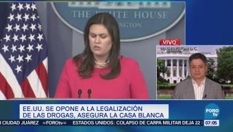 EU se opone a la legalización de las drogas, dice la Casa Blanca