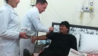 Evo Morales confirma que fue intervenido éxito pequeño tumor