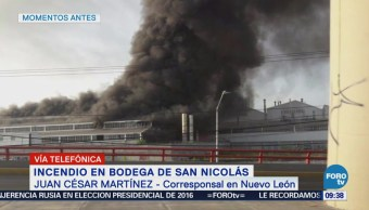 Explosión provoca incendio en fábrica de aluminio en San Nicolás, NL