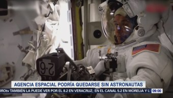 NASA podría padecer carencia de astronautas
