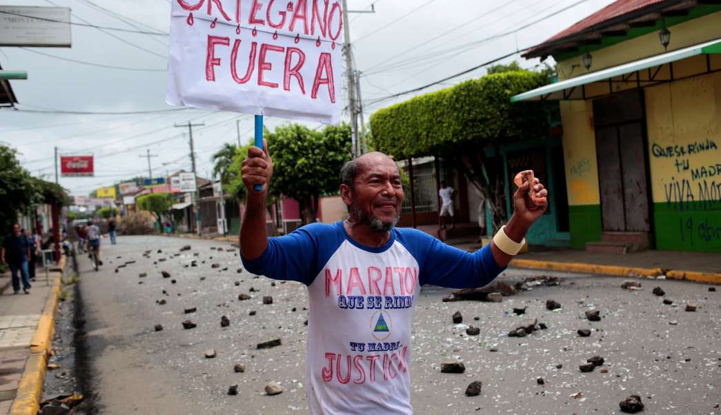 Fuerzas Ortega disparan trincheras estudiantes Managua