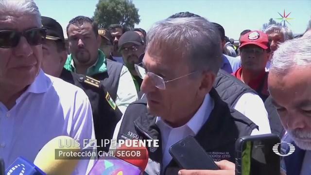 Funcionarios se pronuncian por explosiones en Tultepec