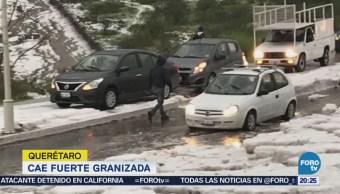 Granizada cubre Querétaro