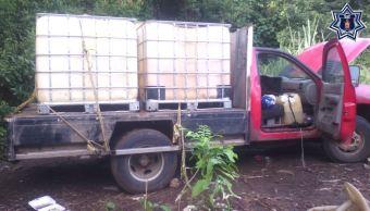 aseguran camioneta hidrocarburo robado oaxaca