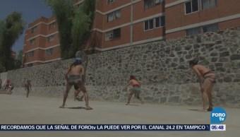 Inauguran cancha de jugo de pelota en delegación Azcapotzalco