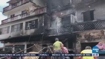 Incendio Consume Mercado Tamazunchale Slp