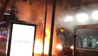 Incendio en Metrobús fue por corto circuito: Gobierno