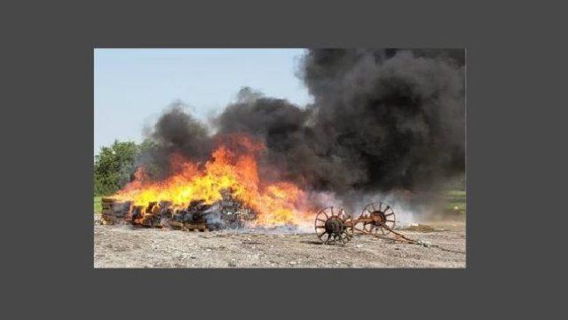 Incineran en Reynosa cinco toneladas de droga