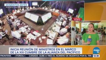 Inicia reunión ministerial en XIII cumbre de Alianza del Pacífico