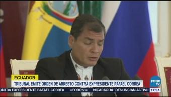 Corte Ecuatoriana Pide Interpol Arrestar Expresidente Rafael Correa