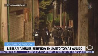 Liberan a mujer retenida en Santo Tomás Ajusco