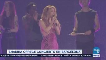 #LoEspectaculardeME: Shakira regresa a los escenarios, acompañada de sus hijos