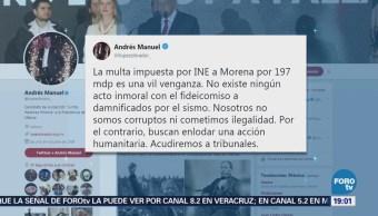 López Obrador Califica Venganza Multa INE AMLO