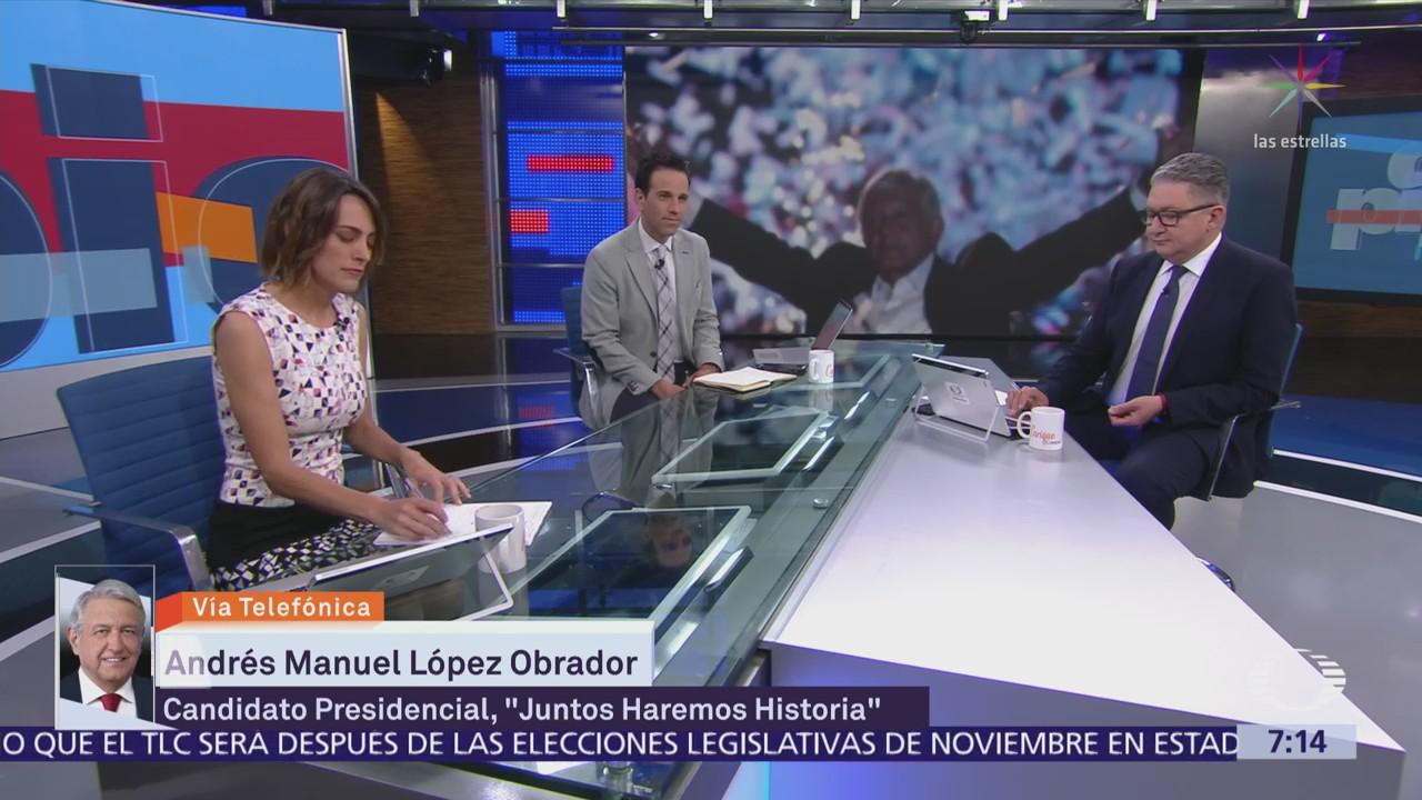 López Obrador habla en Despierta con Loret tras triunfo en elección presidencial
