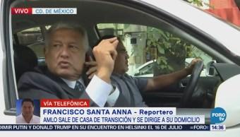 López Obrador Sale Casa Campaña Rumbo Tlalpan
