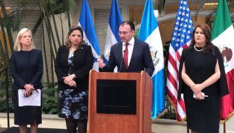 México, EU y 'Triángulo Norte' combatirán tráfico de personas en fronteras