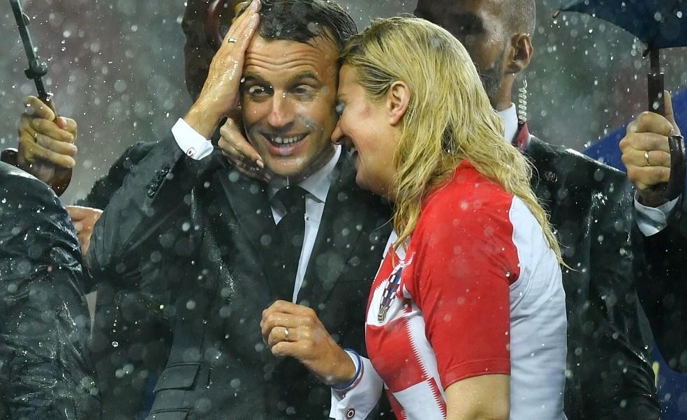 Las muestras de afecto entre Kolinda Grabar y Macron