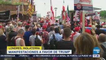 Manifestaciones Favor Donald Trump Londres Reino Unido
