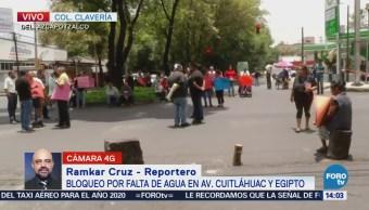 Manifestantes Cierran Avenida Cuitláhuac Cdmx