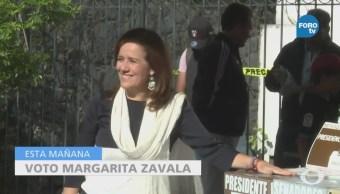 Margarita Zavala vota en la Ciudad de México