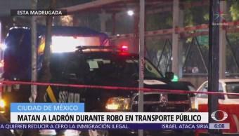 Matan a ladrón durante robo a microbús en la delegación Iztacalco