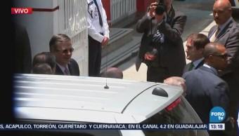 Mike Pompeo llega a la casa de transición de López Obrador
