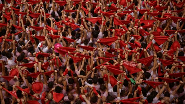 Arranca la fiesta de los Sanfermines en Espana