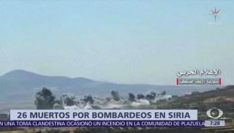 Mueren 11 niños en Siria por presuntos bombardeos rusos