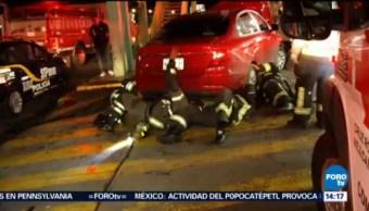 Auto Choca Unos Metros Bombas Gasolina Coyoacán