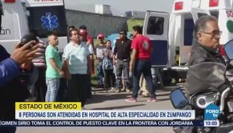 41 heridos por explosiones en Tultepec siguen