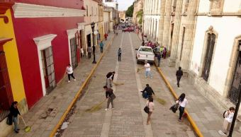 inicia jornada limpieza centro historico oaxaca celebrar guelaguetza