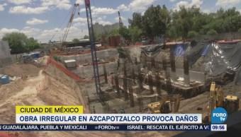 Obra irregular en Azcapotzalco provoca daños