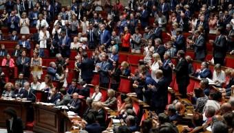 Oposición francesa moción censura contra Gobierno Macron
