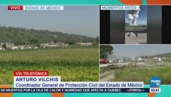 PC Edomex confirma traslado de personas por explosión en Tultepec