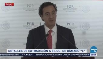 PGR da detalles de la extradición de