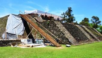 Descubren templo dedicado a Tláloc dentro de la Gran Pirámide en Teopanzolco, Morelos