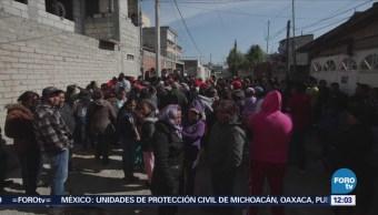 Pobladores retienen a dos presuntos ladrones en Santiago Tlacotepec, Edomex