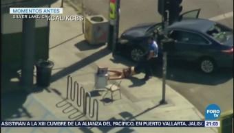 Policía Los Angeles Reporta Muerto Toma Rehenes
