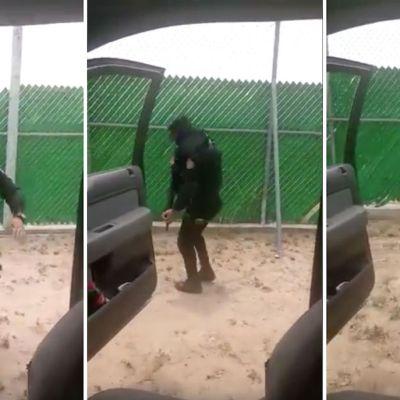 Video: Captan a policía bailando con su fusil en el reto de internet la #ChonaChallenge