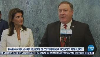 Pompeo acusa a Norcorea de contrabandear productos petrolero