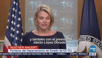 Pompeo se reunirá con EPN y López Obrador