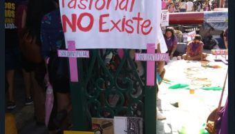 protestan nuevo leon exigir cese feminicidios