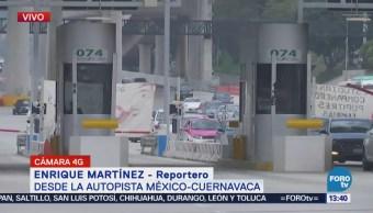 Protestan por caso Iguala en la México-Cuernavaca