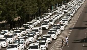 Taxistas protestan servicios privados en Madrid y Barcelona