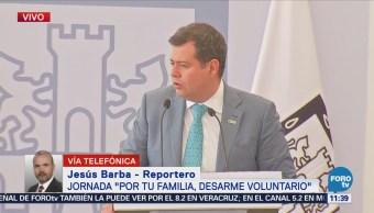 Ramón Amieva encabeza el arranque del programa de desarme voluntario