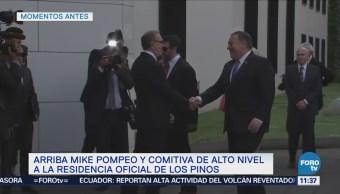 Reciben a Mike Pompeo en Los Pinos