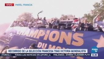 Recorrido de la selección francesa tras victoria mundialista