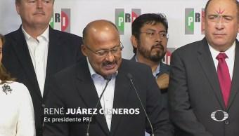 René Juárez renuncia a la dirigencia del PRI