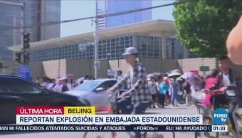 Reportan explosión en embajada de EU en China