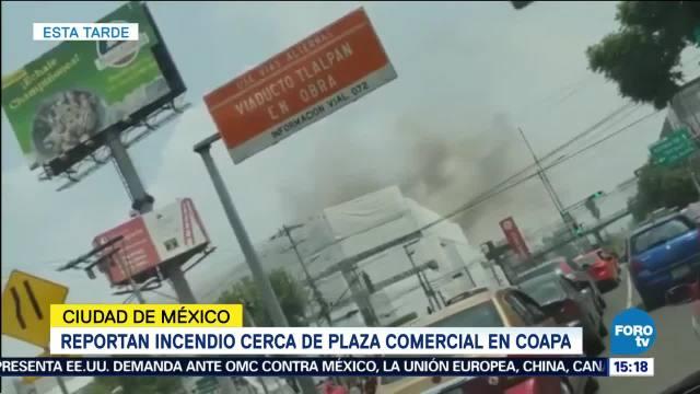Reportan Incendio Plaza Comercial Coapa